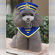 New and Fashionable The Navy Sailor Suit (Cloak and Hat) Specially Design Clothes For Pets Dogs