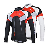 ARSUXEO® Cycling Jersey Men's Long Sleeve Bike Breathable / Quick Dry / Anatomic Design / Front Zipper / Antistatic / Limits Bacteria