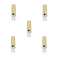5Pcs Dimmable G9 10W 152x3014SMD 1000LM 2800-3200K/6000-6500K Warm White/Cool White Light LED Corn Bulb (AC220-240V)