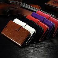 card portemonnee gek paard patroon pu lederen full body case met standaard slot voor Alcatel One Touch pop c7 (verschillende kleuren)