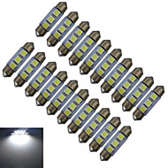 JIAWEN® 20pcs Festoon 36mm 1W 3x5050SMD 60LM 6000-6500K Cool White Reading Light LED Car Light (DC 12V)