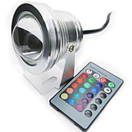 10w rgb fyrfärg IP68 vattentät förstå LED-lampa spotlight pool ljus (12v)