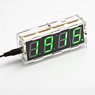 DIY 4 자리 7 세그먼트 디스플레이 디지털 조명 제어 탁상 시계 키트 (녹색 빛)