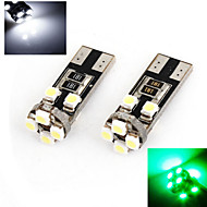 2 pcs ding yao T10 5W 8X 1200LM K Cool White/Red/Blue/Yellow/Green Decorative Decoration Light DC 24/DC 12V