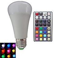 10W E26/E27 LED-globepærer A80 3PCS Højeffekts-LED RGB lm RGB Justérbar lysstyrke Fjernstyret Dekorativ Vekselstrøm 85-265 V 1 stk.