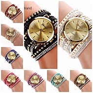 Women's  Big Round  Dial  Diamante Mushroom Circuit   Flocking  Band Quartz  Watch (Assorted Color)C&d222 Cool Watches Unique Watches