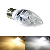 ding yao Luzes de LED em Vela E26/E27 9W 250-300 LM 2700-3500/6000-6500 K Branco Quente / Branco Frio 3 COB 1 pç AC 85-265 V