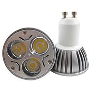 3W GU10 LED-spotpærer MR16 3 Høyeffekts-LED 250-300 lm Varm hvit / Kjølig hvit AC 85-265 V 1 stk.