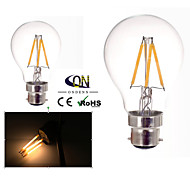 ONDENN B22 4 W 4 COB 400 LM 2800-3200K K Warm White A Dimmable Globe Bulbs AC 220-240/AC 110-130 V