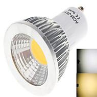 6W GU10 LED-globlampor 1LED COB 450 lm Varmvit / Kallvit AC 85-265 V 1 st