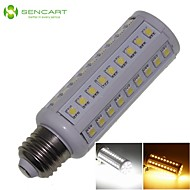E27 12W 66x5050SMD 1200LM 3500K 6000K  Warm White/Cool White Light LED Corn Bulb AC85-265V