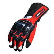 Motoros kesztyű Teljes ujj Bambusz szénszál L/XL/XXL Piros/Fekete/Kék