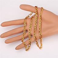 Κοσμήματα Κολιέ με Αλυσίδα Πάρτι Χαλκός / Επιχρυσωμένο Άντρες Χρυσαφί Δώρα Γάμου