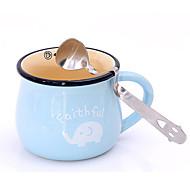 귀여운 미소 얼굴 곡선 된 차 커피 음료 조미료 숟가락 스테인리스 작은 술
