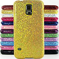 Für Samsung Galaxy Hülle Geprägt Hülle Rückseitenabdeckung Hülle Glänzender Schein PC Samsung S5 Mini