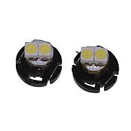 10 X T4.2 2LED 3528SMD Cool White Light  for Car Dashboard Light Bulb (DC12-16V)
