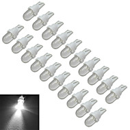 JIAWEN® 20pcs T10 0.5W 30-50LM 6000-6500K Cool White Car Signal Lamps LED Car Light (DC 12V)