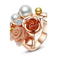 Dames Statementringen Modieus Opvallende sieraden Kostuum juwelen Parel Legering Sieraden Voor Feest
