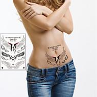 Inne Naklejki z tatuażem - Dziecięce/Damskie/Męskie/Dorosły/Dla nastolatków - Angel Wings - 21*14.5cm(8.3*5.7in) - Paper - Wielokolorowy -