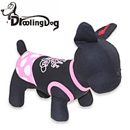 고양이 / 개 드레스 블랙 강아지 의류 여름 도트 무늬