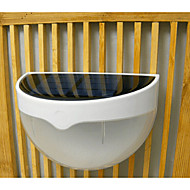 White Light light-control Solar Energy Saving Fence Gutter Outdoor Garden Wall Pathway Lamp