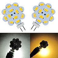 3W G4 LED Bi-Pin lamput 9 SMD 5730 100-150 lm Lämmin valkoinen / Kylmä valkoinen DC 12 V 2 kpl
