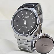 Gepersonaliseerde Gift - voor Heren Horloge - met Staal - Band