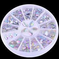 Oval Nail Art Crystal Acrylic Rhinestones Glittery Fake Diamond for Nail Design