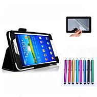 Na Samsung Galaxy Etui Z podpórką / Flip Kılıf Futerał Kılıf Jeden kolor Skóra PU Samsung Tab 4 7.0
