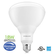 Bymea E26 18W 1400lumen 100watt Equivalent LED BR40 Flood Bulbs Light Dimmable Energy Saving (120V)