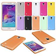 Fitnessraum ultradünne transluzenten matte weiche Tasche für Samsung Galaxy Note 4 n9100 (verschiedene Farben)