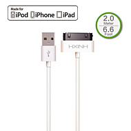 HXHIN MFi 30P to USB 2.0 Charger & SYNC cable, for iPhone3 3G 3GS 4 4s iPad 2 3 Nano 1 to 6, Touch 1 to 4, 200cm, White