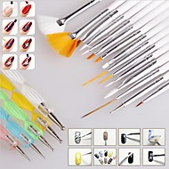 15PCS Nail Art Design Painting Drawing Pen Brush Set with 5PCS 2-way Dotting  Pen Tool