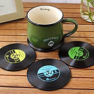 vuosikerta vinyyli vuoristorata groovy CD ennätys pöytä baari juomia cup matto 1kpl (ramdon väri)