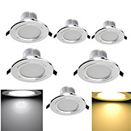 6 pcs YouOKLight 7W 15 SMD 5630 700 LM Warm White / Cool White Recessed Retrofit Decorative LED Downlights AC 85-265 V