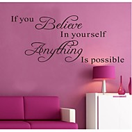 Words & Quotes Wall Stickers Plane Wall Stickers Decorative Wall Stickers,Vinyl Material Removable Home Decoration Wall Decal