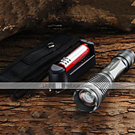 details over CREE XM-L LED-T6 2200lm zaklamp 18.650 accu + lader + holster