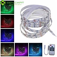 SENCART 2 M 120 5050 SMD RGB Chippable/Fjernbetjening/Dæmpbar/Koblingsbar/Passer til Køretøjer/Selvklæbende 29 W Fleksible LED-lysstriber