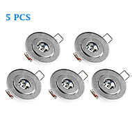 5pcs 3W 200-300LM 3000-3500K Warm White Color Support Dimmable Round LED Panel Lights LED Ceiling Lights(220V)