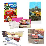 75pcs voitures bébé décorations de fête d'anniversaire partie des fournitures partie de la décoration evnent enfants 18 personnes