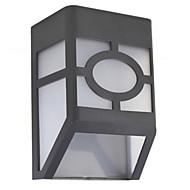 hry® 2LEDs bianco della luce di colore della lampada recinto luci solari