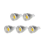 9W GU10 Focos LED MR16 1 COB 750-800 lm Blanco Cálido / Blanco Fresco Regulable AC 100-240 / AC 110-130 V 5 piezas