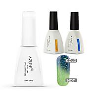 Azure 3 Pcs/Lot Color Changing with Temperature Soak-off Gel Nail Polish Kit(#25+BASE+TOP)