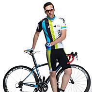 SANTIC Moto/Ciclismo braço aquecedores / Camisa + Shorts / Conjuntos de Roupas/Ternos Homens Manga CurtaRespirável / Secagem Rápida /