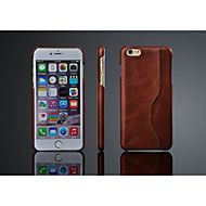 Oil Wax Pattern Genuine Leather Back Cover for iPhone 6S Plus/6 Plus