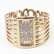 Mulheres Relógio de Moda Bracele Relógio Quartzo Lega Banda Bracelete Elegantes Ouro Rose marca