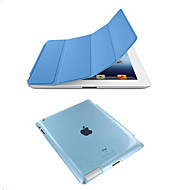For iPad 234 Smart Cover Case Front leather Cover+Matte Back Cover
