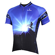 tops / Jersey (Azul) - de Ciclismo / Sertão - Homens -Respirável / Resistente Raios Ultravioleta / Secagem Rápida / wicking /