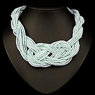 Damskie Oświadczenie Naszyjniki Pearl Strands Perlový náhrdelník KryształPerłowy Kryształ górski sztuczna Diament 18K złoty Austria