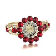 sjewelry Dame Kristall Armbanduhr atmosphärischen Diamant Uhr